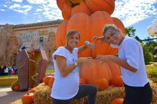 Gardaland Magic Halloween con Tania Cagnotto e Francesca Dallap