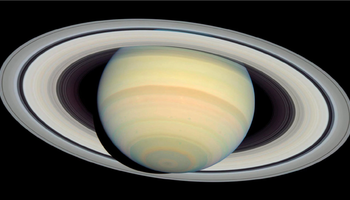 Un'immagine di Saturno ripresa dal telescopio Hubble (fonte: NASA, ESA and Erich Karkoschka (University of Arizona)) (ANSA)