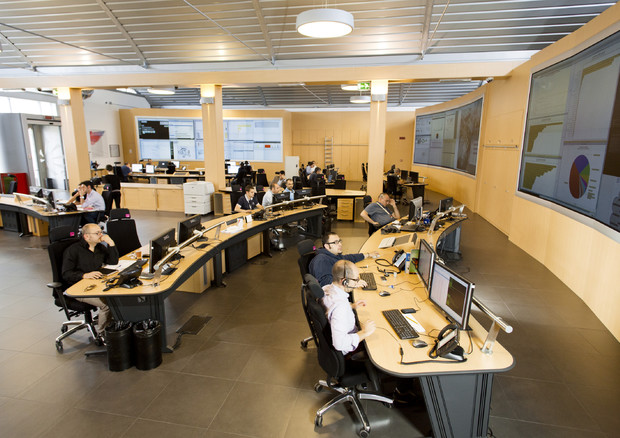 Il Next Generation Security Operation Centre della Leonardo, a Chieti (fonte: Leonardo) © Ansa