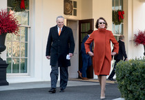 Nancy Pelosi dopo l'incontro con Donald Trump. Foto da New York Times, fashion editor Vanessa Friedman (ANSA)