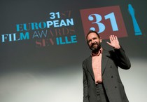 British actor Ralph Fiennes in Seville (ANSA)