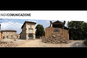 I vulcani in 14 video, backstage con Leo Gullotta (fonte: INGV) (ANSA)