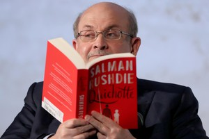 Salman Rushdie presents new book Quichotte in Berlin (ANSA)