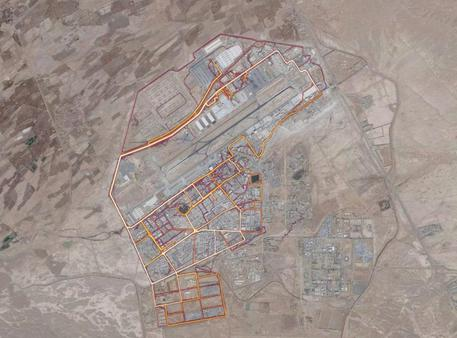 Kandahar Airfield in Afghanistan (Foto: screenshot Strava Labs - Washington Post) © ANSA