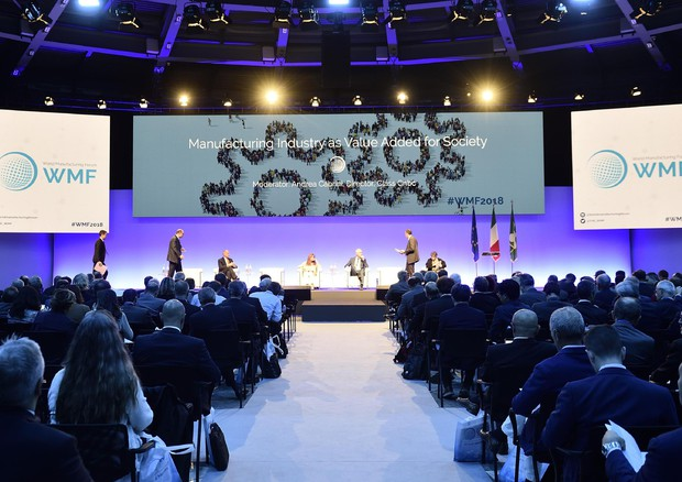 Un momento dell'apertura del World Manufacturing Forum 2018 © ANSA